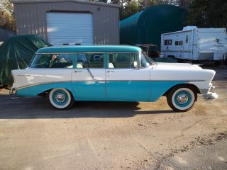 1956 Chevy 210 Barn Find Station Wagon V / 8 A / C Auto 1 - 508 648 3470 photo