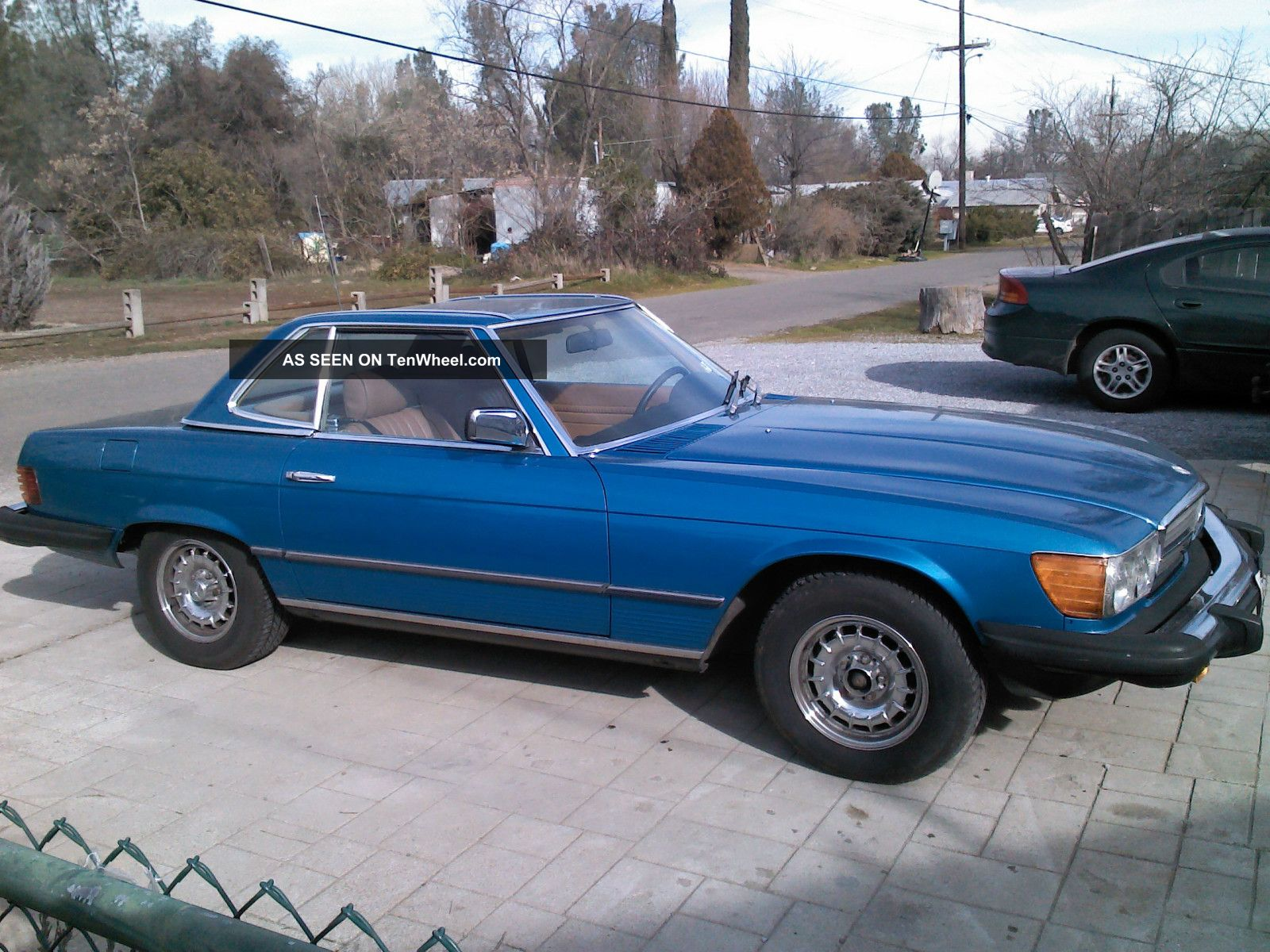 Blue 1982 Mercedes 380 Sl Sport Coup May Concider Parcial Trade SL-Class photo