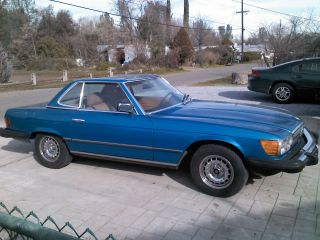 Blue 1982 Mercedes 380 Sl Sport Coup May Concider Parcial Trade photo