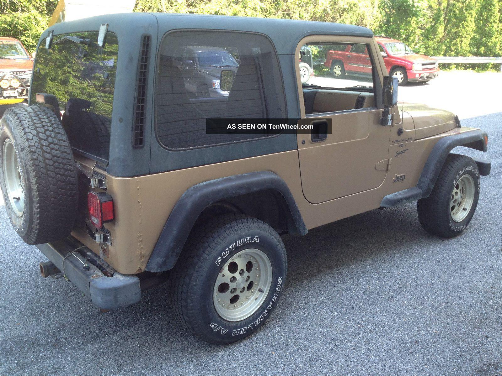 1999 jeep wrangler sport 5spd 6 cylinder. Black Bedroom Furniture Sets. Home Design Ideas