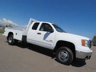 2007 Gmc Sierra 3500 Slt 4x4 Dually Extended Cab Hauler Utility Bed Lmm 2007.  5 photo