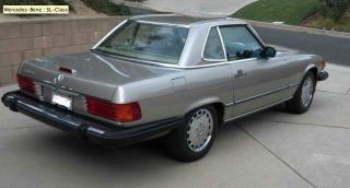 Mercedes 1989 560 Sl,  Clean photo