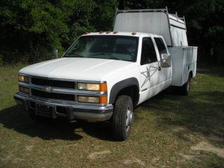 1998 Chevrolet 4wd Dually Diesel Crew Cab Pick - Up Enclosed 8 ' Bed + Crane Winch photo