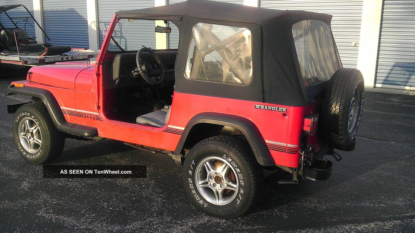 1989 Jeep Wrangler Base Sport Utility 2 Door 2 5l