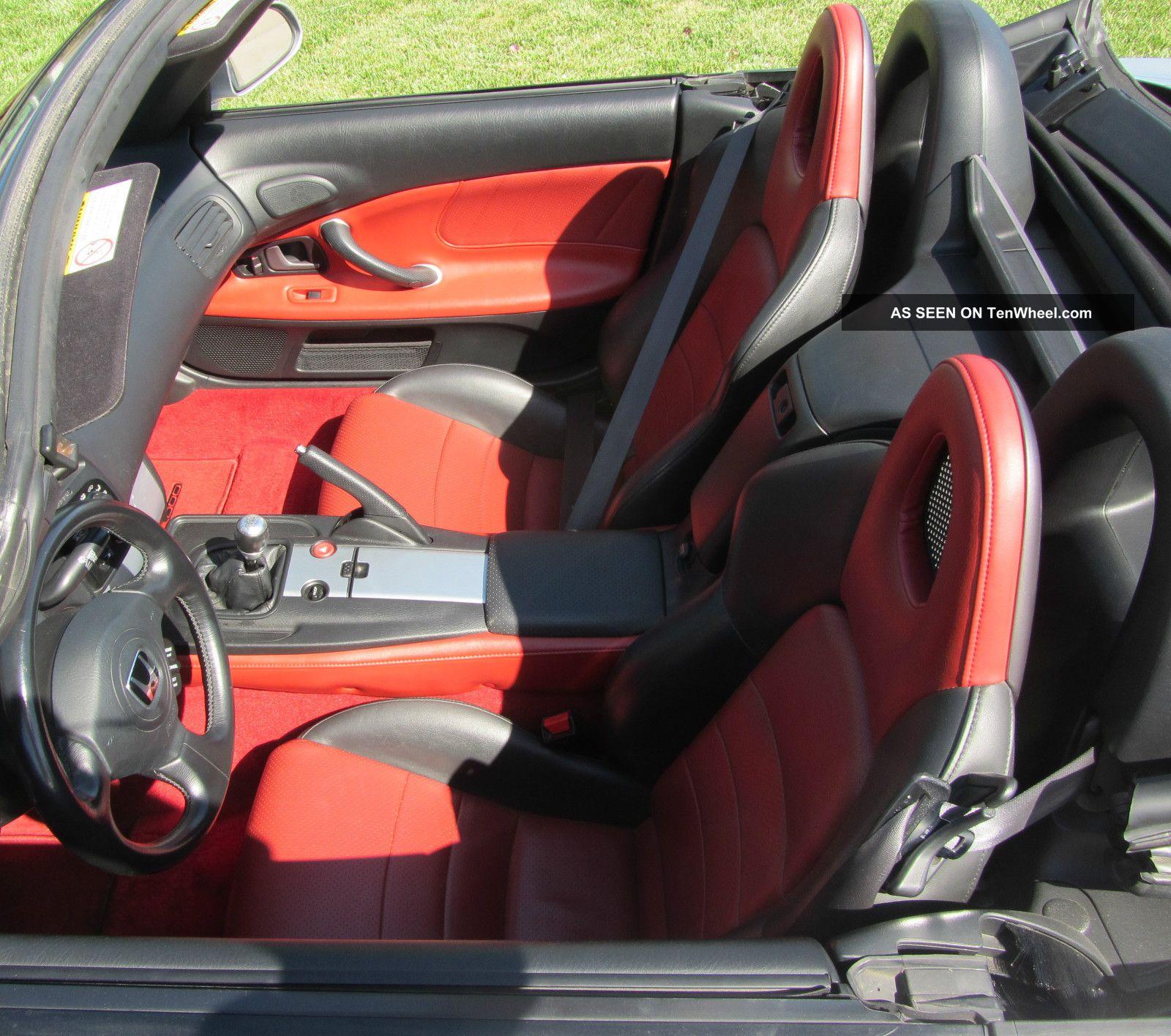 2005 Honda S2000, 6 Speed, 59k Mi. , Silver, Limited Red