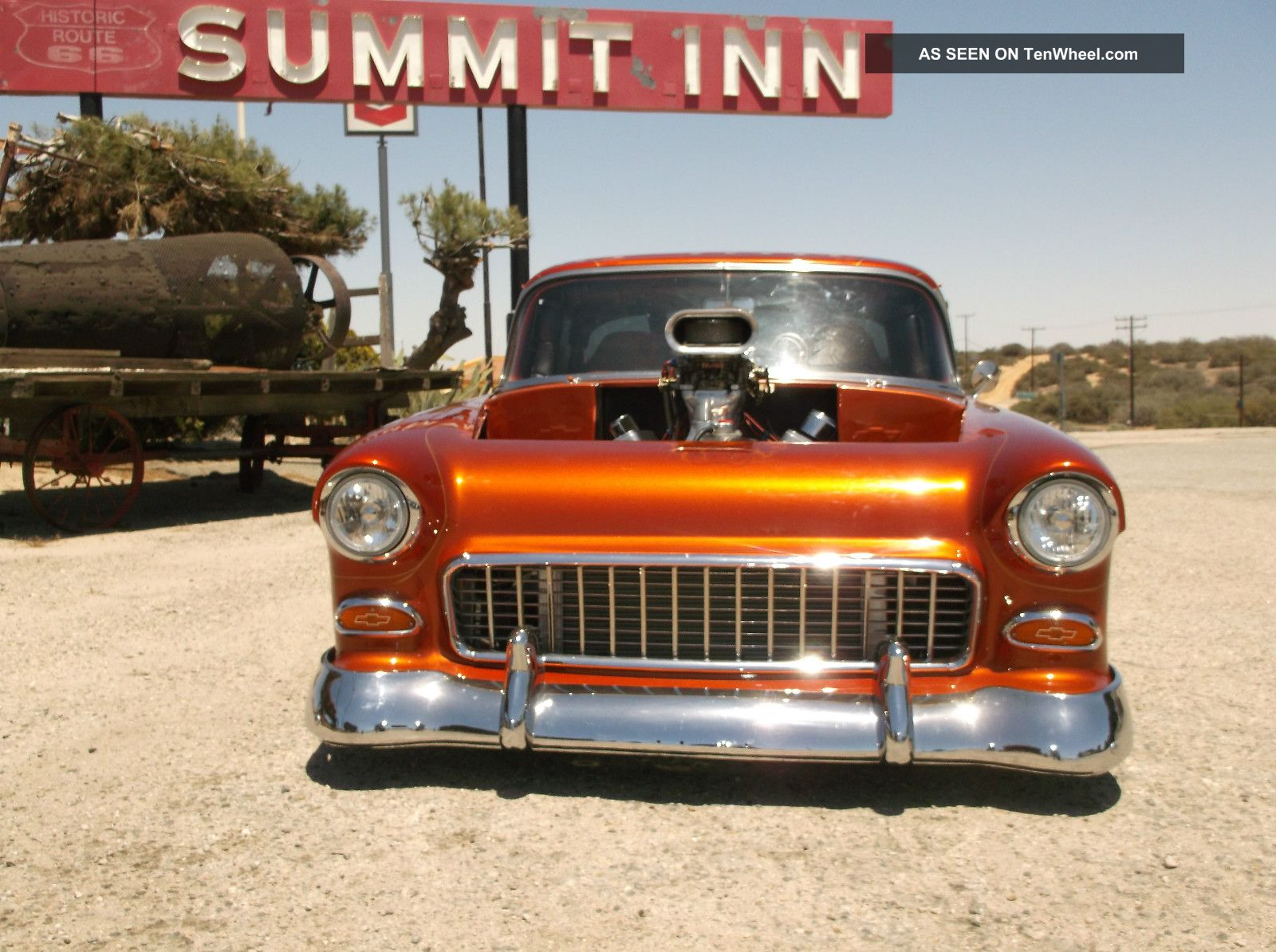 1955 Chevy Bel Air Pro Street Rod Custom Paint Flames Ford F100 Built 468 Cu In