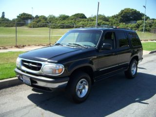 1998 Explorer V6 2x4 Xlt.  Blk / Grey Lthr.  4door.  Great Cond.  Fully Loaded. photo