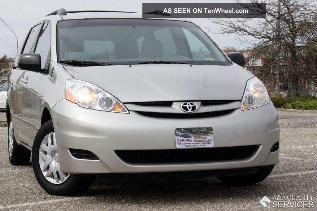 2008 Toyota Sienna Ce 7 Passenger Privacy Glass Roof Rack 3rd Row Stow N Go Abs Sienna photo