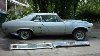 1972 Chevrolet Nova V8 A / C Power Steering Pro Street Ss Yenko Tribute Potential photo