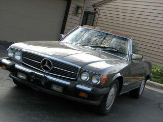 1987 Merc - Benz 560sl 2 Tops Convertible Rare Color Combo Awesome photo
