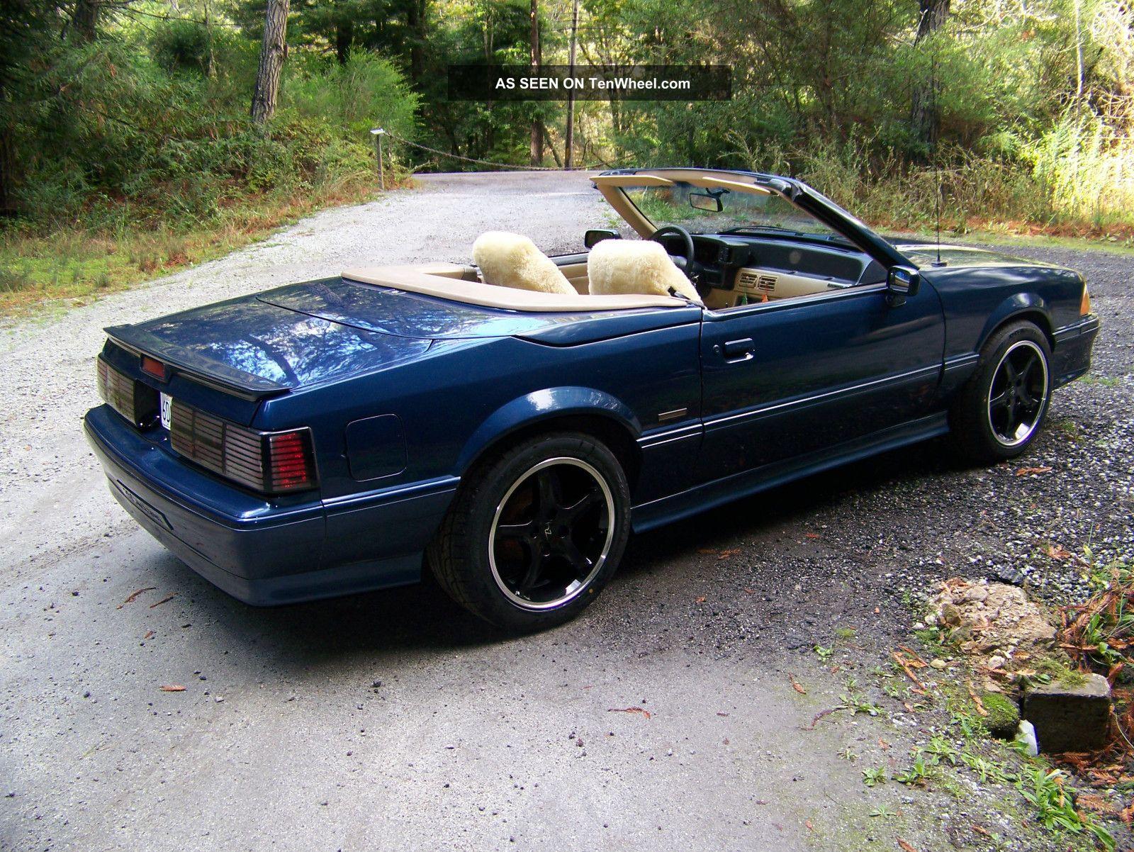 1988 asc mclaren 5 0 mustang coupe convertible
