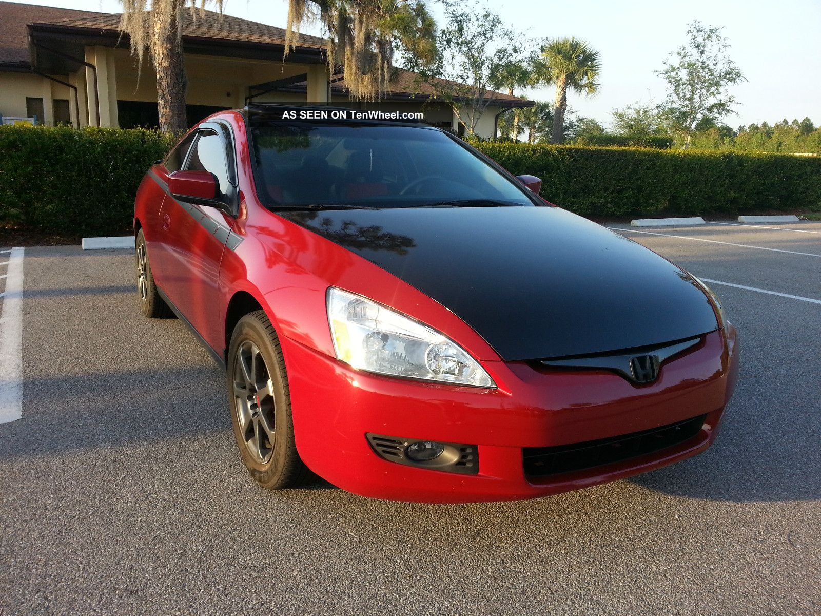 2004 honda accord 2dr coupe custom made miami heat colors. Black Bedroom Furniture Sets. Home Design Ideas