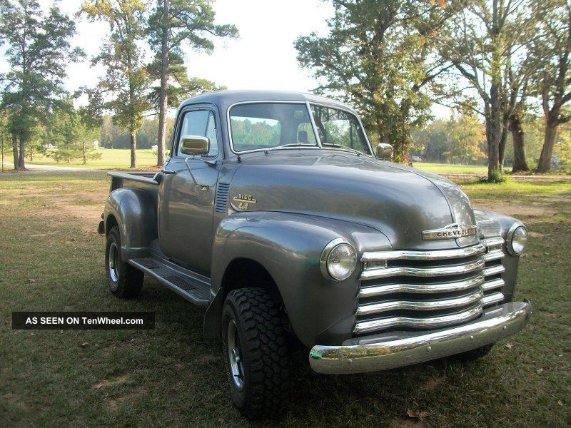 1953 Chevy Custom 3100 4x4 Premium Antique Truck With Chrome 383 Stroker V8 Other Pickups photo