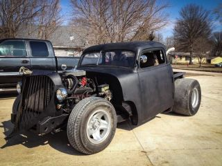 1948 Chevy 5 - Window Pickup Truck - Rat Rod Chopped,  Channelled,  Suicide Doors photo