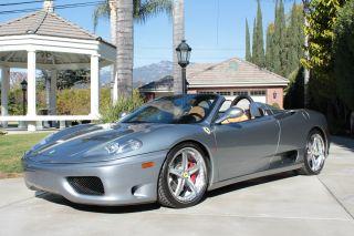 2004 Ferrari 360 F1 Spider Convertible; All Options,  All Services Done photo