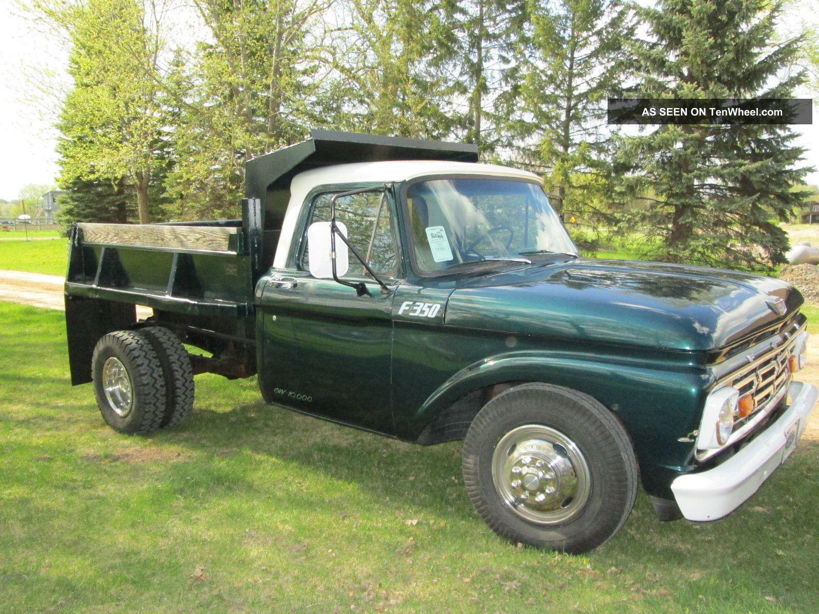1965 Ford F - 350 Dump Truck,  Green,  Rare,  Collector,  Classic,  Dually, F-350 photo