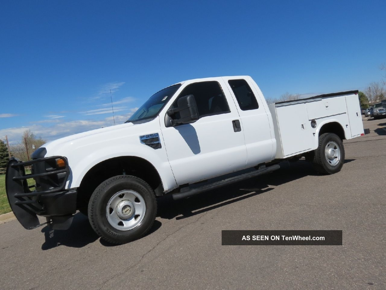 2008 Ford F - 250 Supercab Xl V10 4x4 Utility Work Service Body Bed Truck F-250 photo