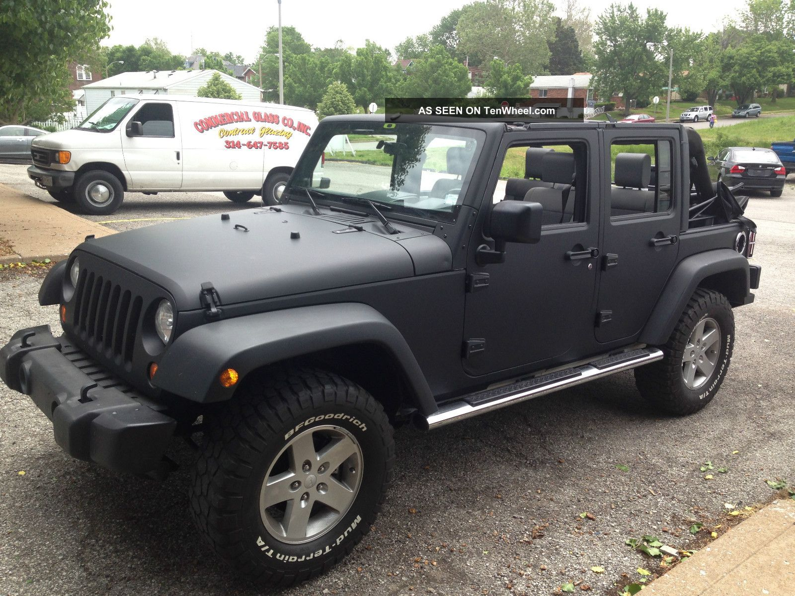 2008 Jeep Wrangler Unlimited X 4x4 Wrapped Matte Black Lift Ram Air