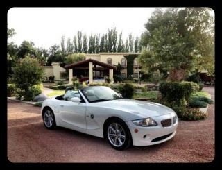 Immaculate 2005 Bmw Z4 3.  0i Convertible 2 - Door 3.  0l - Alpine White / Black photo