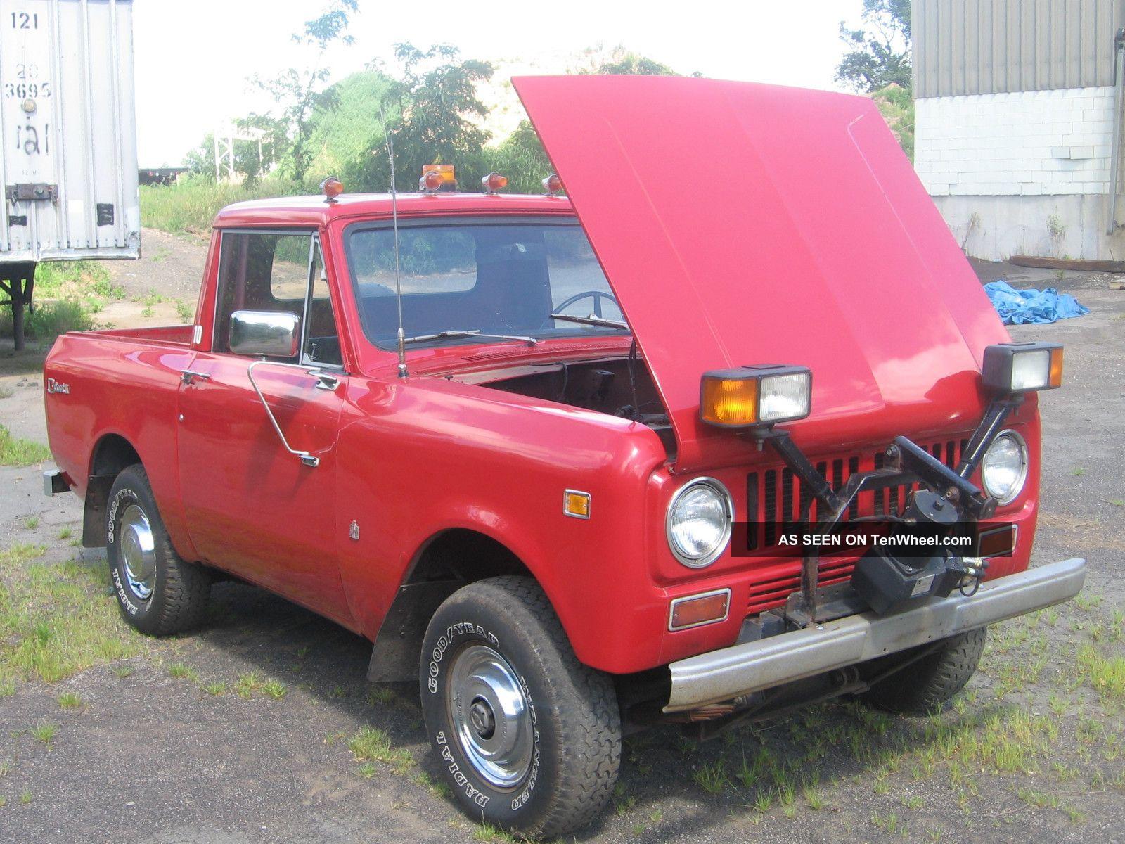 1973 International Scout Ii, Manuel Trans, 4x4 Pick Up Truck