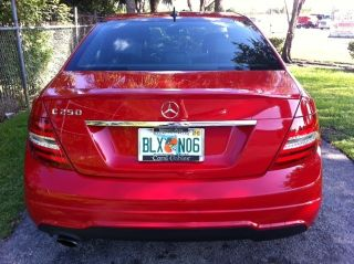 2013 Mercedes Benz C250 Red photo