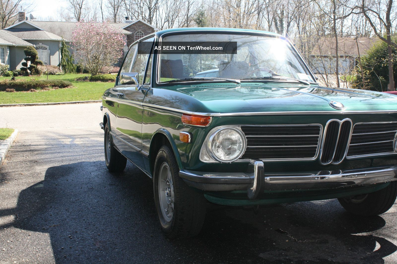 1972 bmw 2002 tii green with brown interior. Black Bedroom Furniture Sets. Home Design Ideas
