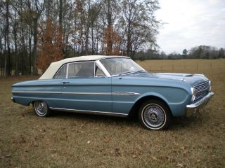 1963 Ford Falcon Futura Convertible,  Viking Blue,  White Top,  6 - Cyl.  - 170eng photo