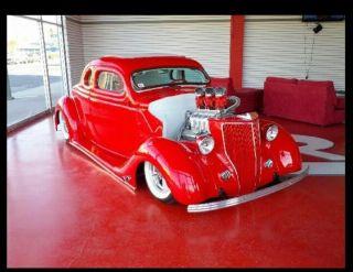 1936 Ford 5 Win Coupe Rod@custom Cover Car Kustom Hot Rod photo