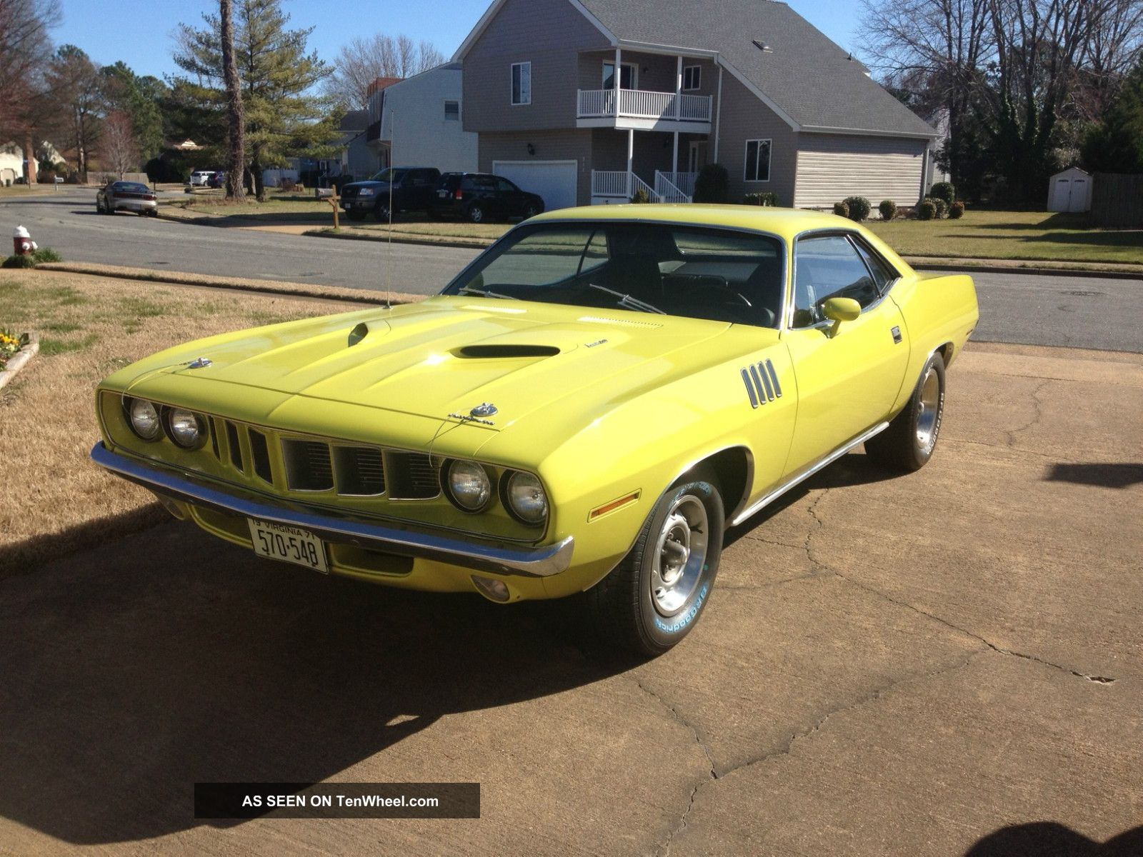 1971 Plymouth Cuda 340 Curious Yellow Matching Numbers