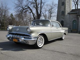 1957 Pontiac Star Chief,  347 Cu,  V8,  Silver Beige photo