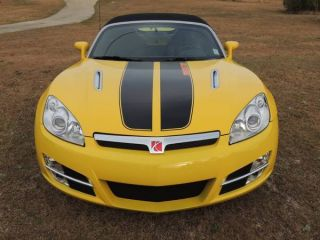 2008 Saturn Sky Base Convertible 2 - Door 2.  4l Yellow W / Black Stripes photo