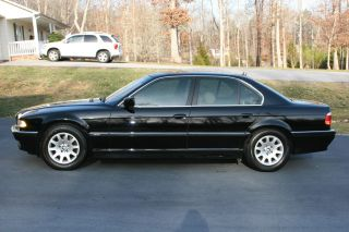 2001 Bmw 740i 4 - Door 4.  4l Black / Tan Alpine Sound System Sweet photo