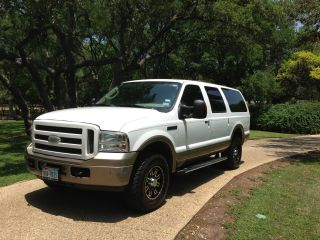 2005 White Ford Excursion Eddie Bauer Turbo Diesel 4x4 photo