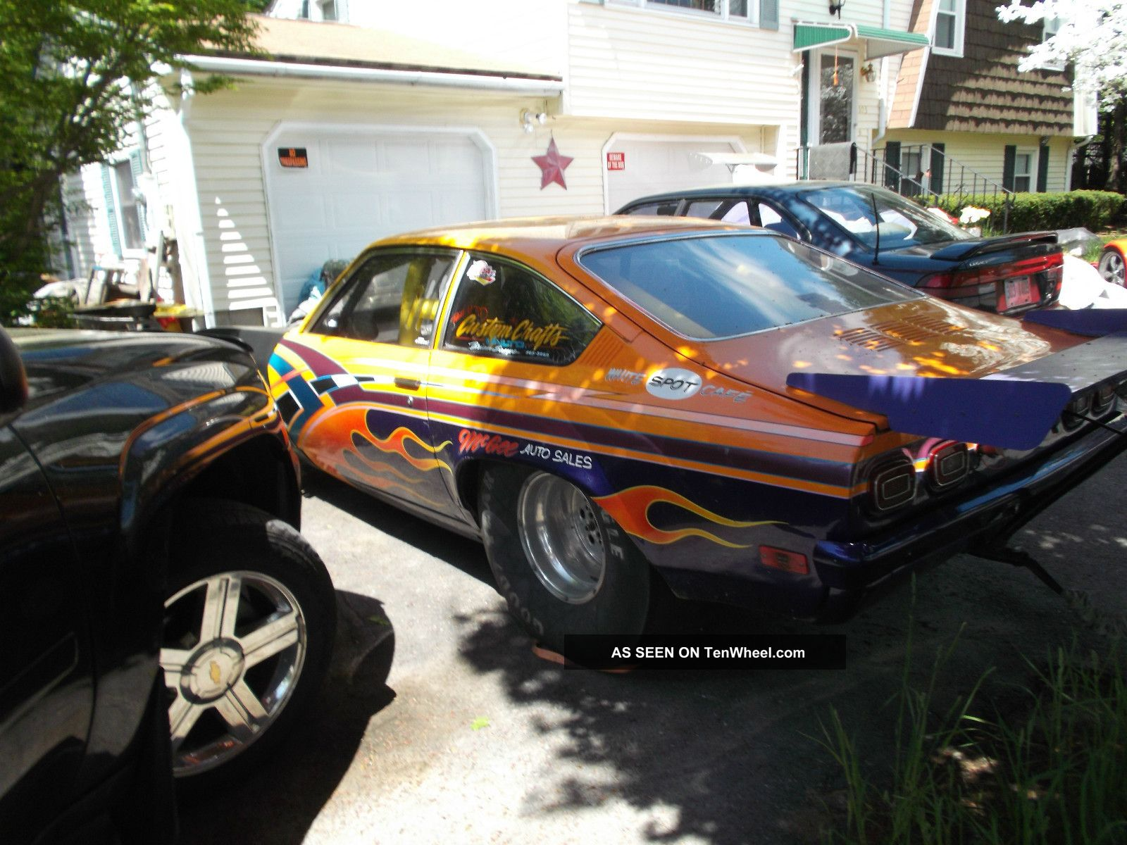 1972 Chevy Vega With A 1974 Fiberglass Nose Set Up For Top Sportsman ...