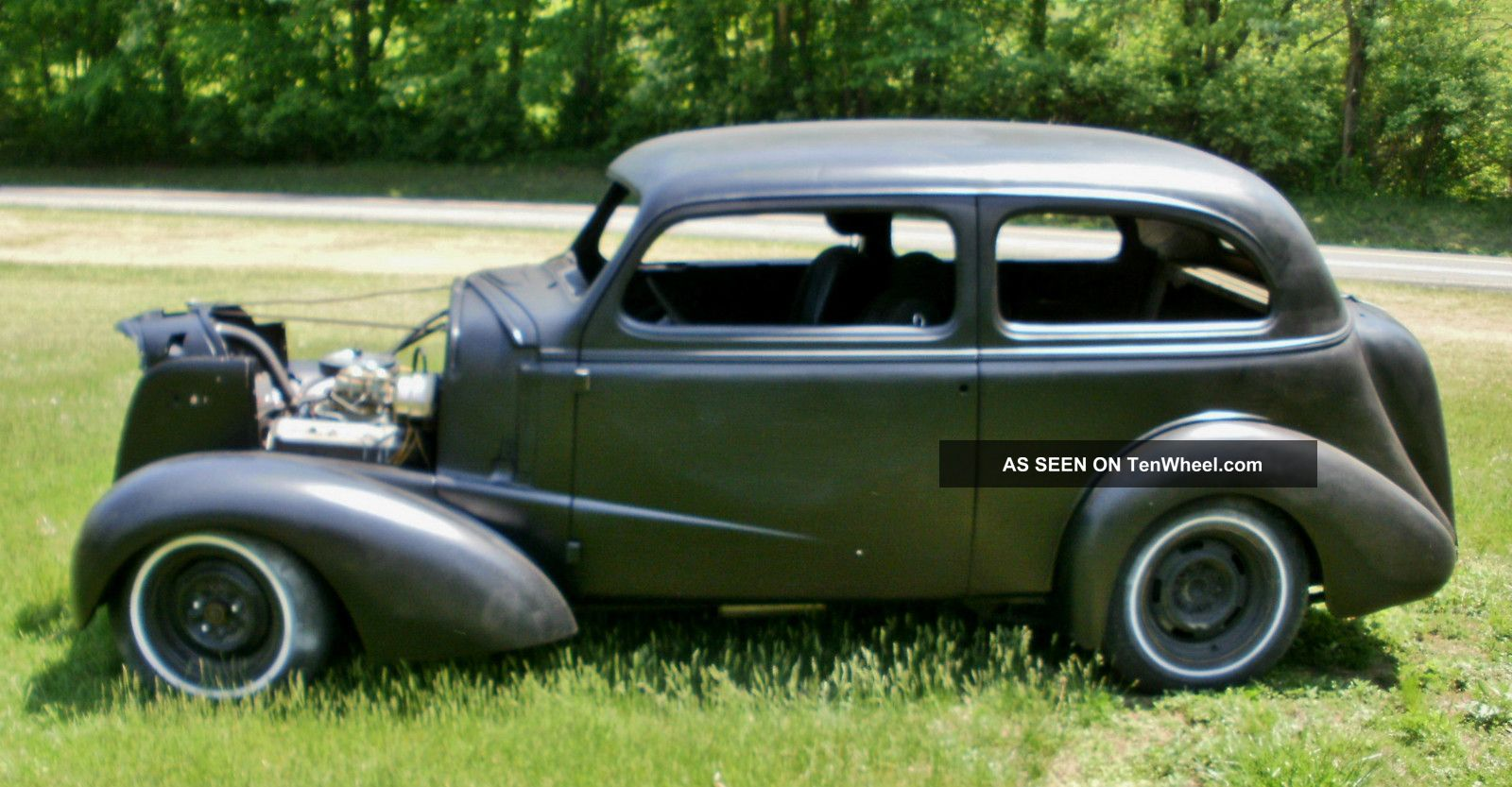 1937 chevy 2 door humpback sedan hot rod rat rod project w for 1937 ford 4 door humpback