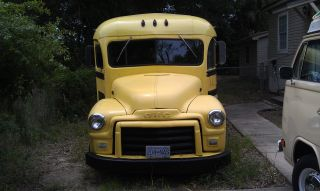 1953 Gmc School Bus,  Short Bus,  Classic,  Vintage,  Antique,  Hot Rod, photo