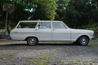 1962 Chevrolet Chevy Ii (nova) 300 Series 3 Seat Wagon Survivor First Year photo