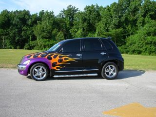 Hotrod 2004 Pt Cruiser One Of A Kind Flames Custom Flamed Show Car Retro Classic photo