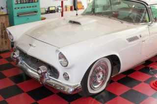 1956 Ford Thunderbird White T - Bird Tbird Thunder Bird photo