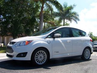 2013 Ford C - Max Cmax Energi Hybrid Electric Pearl White photo