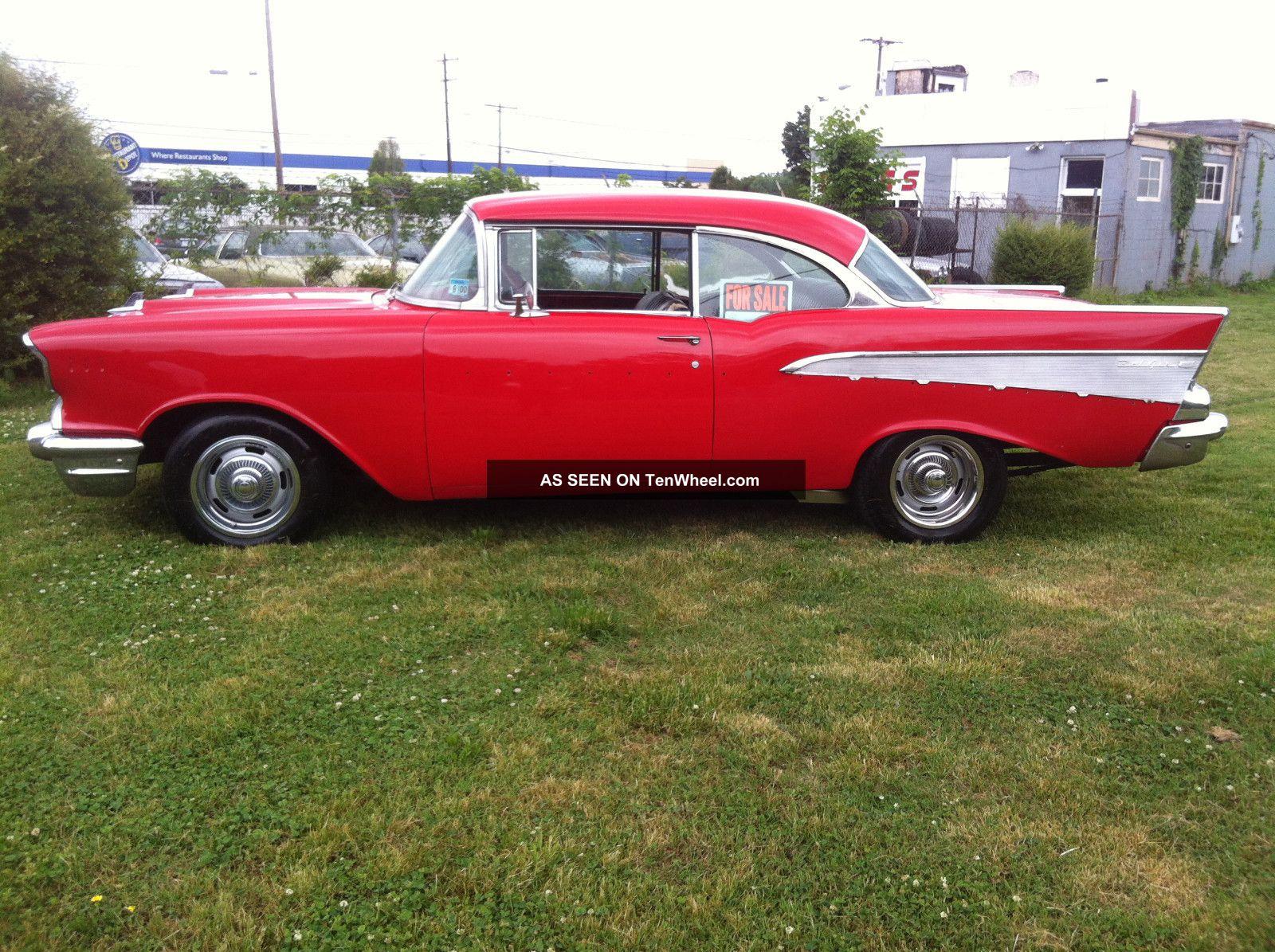 1957 chevrolet bel air base hardtop 2 door 4 3l for 1957 chevy 4 door