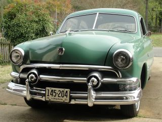 1951 Ford Custom 2 - Door Sedan V8 Flathead Motor Clear Title Excellent photo