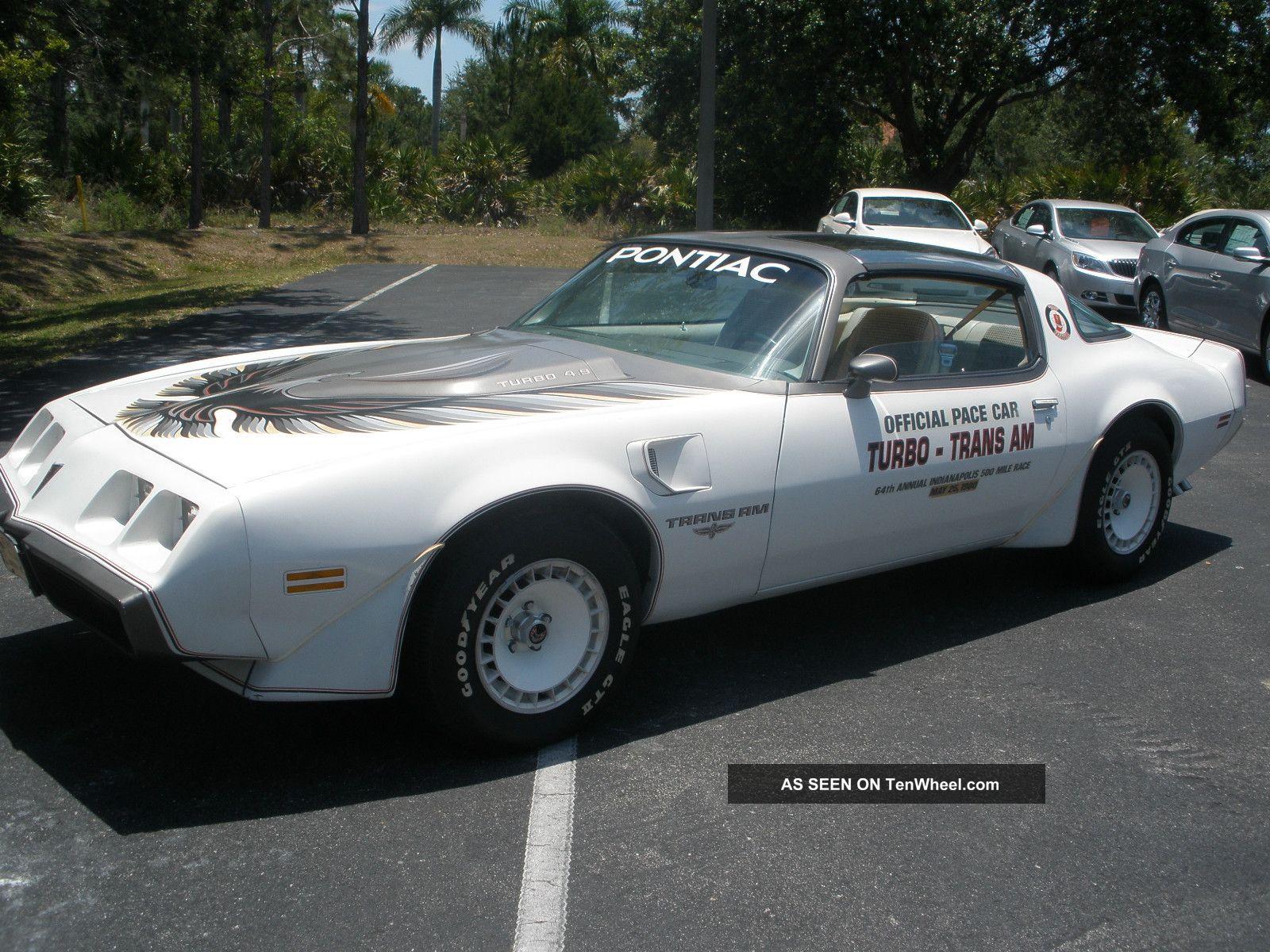1980 Pontiac Transam Indy Pace Car 4 9l Turbo Coupe