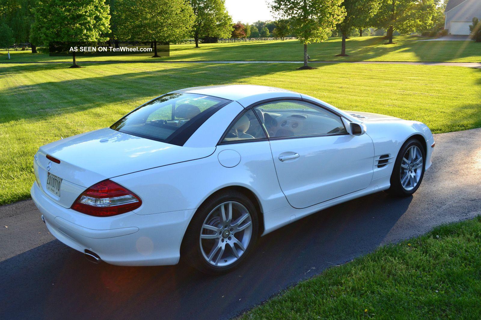 2008 Mercedes Sl550r Converbible White / W Tan Interior Immaculate Condition SL-Class photo