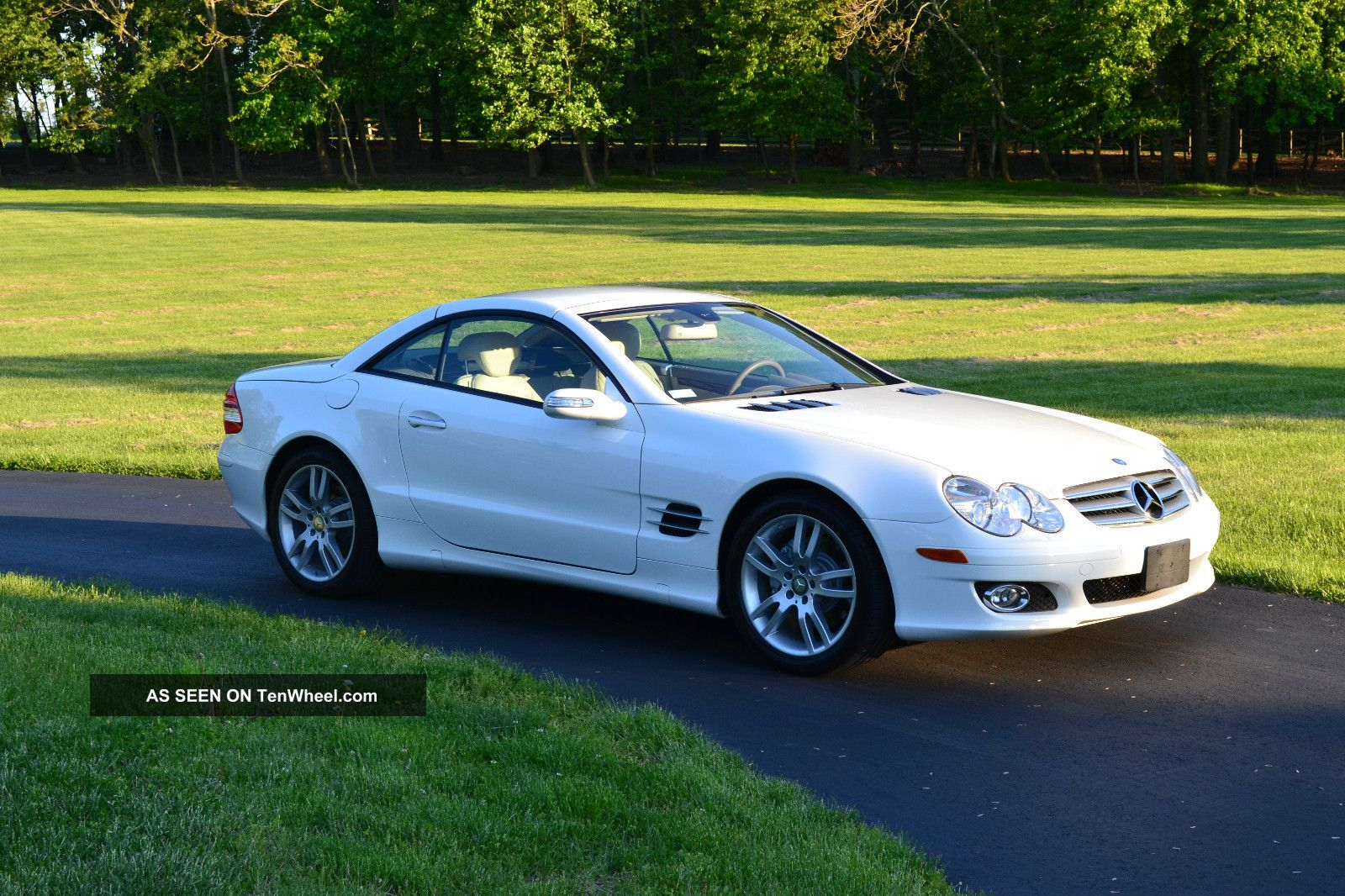2008 Mercedes Sl550r Converbible White W Tan Interior
