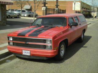 1976 Chevy Suburban Ss Custom Chopped Rat Rod Show Truck Hot Rod Towrig Check Me photo