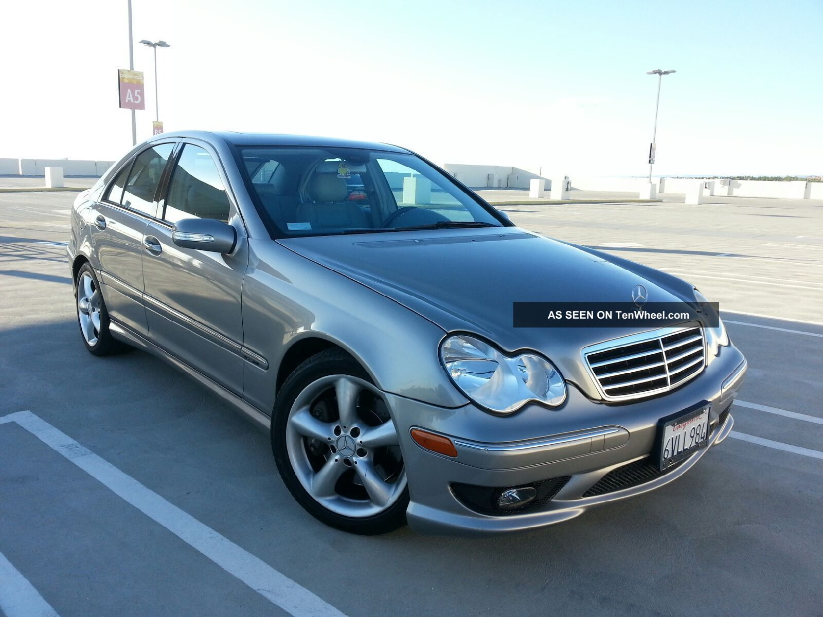 2005 mercedes benz c230 kompressor sedan 4 door 1 8l. Black Bedroom Furniture Sets. Home Design Ideas