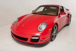 2007 Porsche 911 Turbo Coupe Rare Guards Red / Tan 6 - Speed Loaded With Options 18k photo
