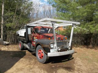1950 Ford F8 X Fire Truck / Flatbed photo