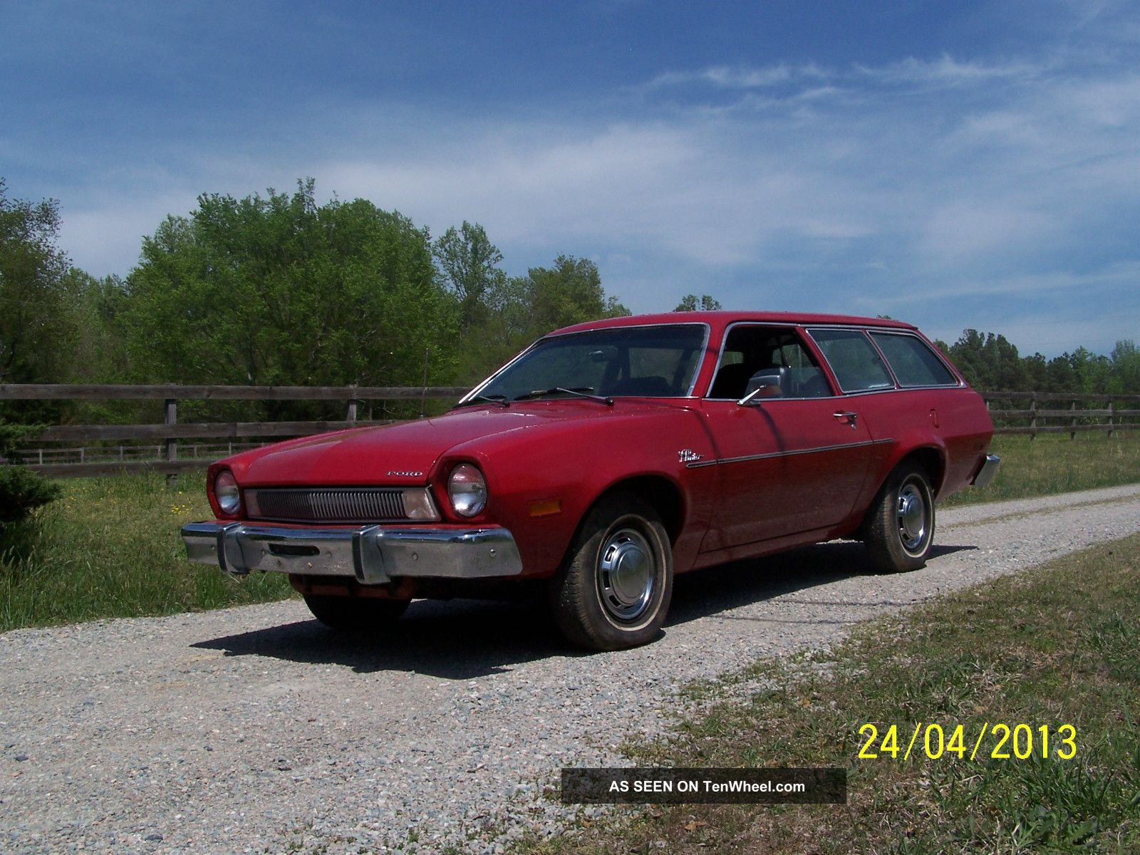 1975 Red Ford Pinto Station Wagon In Restoration Condition